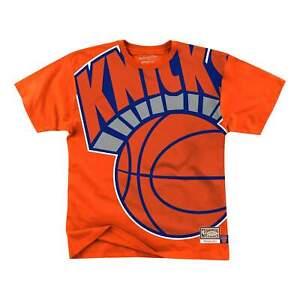 Mitchell & Ness Orange NBA New York Knicks Big Face T-Shirt