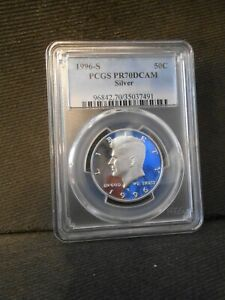 1996-S PCGS PR70DCAM SILVER Kennedy Half Dollar Perfect Grade!! More 2 B Listed