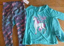 Unicorn Dreams Girls New 2-pc PJs size 4 $32 retail Long-sleeved NWT socks Xmas