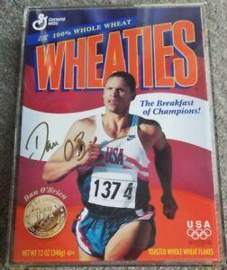 1996 Olympics Team USA Track & Field Dan O'Brien SIGNED Wheaties Gold Medal Box