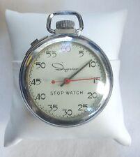 Vintage Ingraham 1/60 Stop Watch Mid Century Working Retro Clock Pocket Nice
