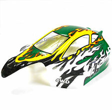 81356 Off Road Nitro RC R/C 1/8 Scale Buggy Body Shell Cover Green