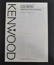 ORIGINAL KENWOOD CS-8010 DIGITAL STORAGE SCOPE INSTRUCTION MANUAL