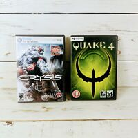 Quake 4 and Crysis PC DVD-ROM Software Video Game Bundle