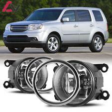 12-15 For Honda Pilot Clear Lens Pair Fog Light Lamp+Wiring+Switch Kit