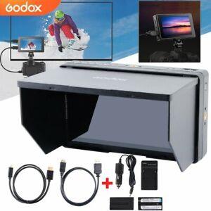 """Godox GM55 4K 5,5"""" HDMI IPS Touchscreen Kamera Video Field Monitor & 2x Akku DHL"""