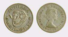 pci4322) Australia   QUEEN Elizabeth II -  1 Shilling 1955 Silver