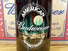 Budweiser, AMERICAN SPORTSMAN Glass Beer Bottle Empty, 1 - 64 Oz King Pitcher