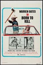 BORN TO KILL/COCKFIGHTER original 1975 one sheet movie poster WARREN OATES