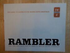 AMC RAMBLER 770 gamme 1966 brochure d'exportation marché britannique-American Motors corp