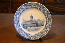 Petrus Regout Maastricht Co Plate Collector Dish Flow Blue Transferware Holland