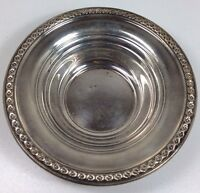 Rogers Sterling Silver Bowl Bon Bon Dish Antique Flower Pattern 201 48