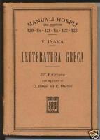 1924 hoepli letteratura greca virgilio inama