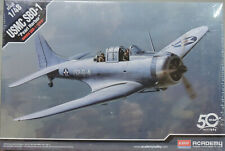 "WWII USMC SBD-1 ""PEARL HARBOR"" ACADEMY 1:48 SCALE PLASTIC MODEL AIRPLANE KIT"