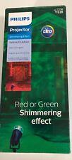 Philips 20' Projector LED Shimmering Effect Red & Green Christmas Spotlight HTF