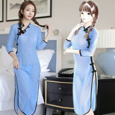 Chinese Qipao Women Sexy Cheongsam Cosplay School Funny Lingerie Dress Nightwear