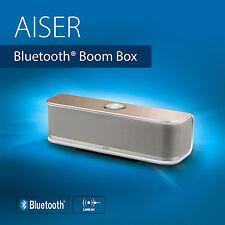 AISER ® HSR 13 Bluetooth ® Boom Box 20 Watt Aluminium Lautsprecher Gold Silver