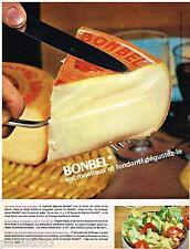 PUBLICITE ADVERTISING 0105  1964  BONBEL  le fromage moelleux & fondant