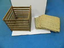 Vintage Egg Crate stamped Wright & Wilhelm Omaha Nebr on bottom