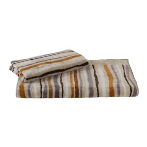 Pair of towels set 1 + 1 in brown CIUTADELLA Carrara terry cloth