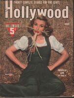 Hollywood Magazine August 1941 Priscilla Lane The Marx brothers 062218DBE