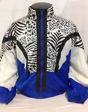 Vintage Active Exposure Nylon White Tiger Windbreaker Jacket Large