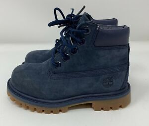 Blue Timberland Premium Waterproof Boots Navy Blue Toddler Size 7
