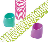 Pack of 12 - Easter Egg Shaped Mini Magic Springs - Party Loot Bag Fillers