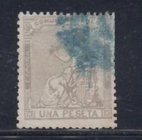 Spagna (1873) Usato Spain - Edifil 138 (1 Pts ) Allegoria di Spagna