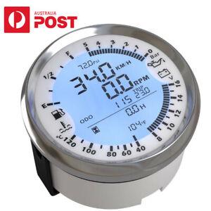 6 in 1 Car Motorcycle Boat GPS Speedometer Tachometer Multi-functional Gauge