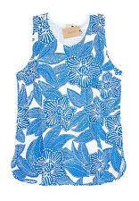 J Crew Factory - Women's M - NWT - Blue & White Tropical Floral Cotton Tank Top