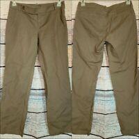 Eddie Bauer Women's fashion Fit Khaki Chino Pants Size 4 Straight Leg shaw EUC