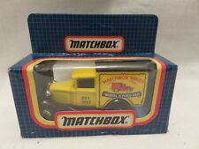 Vintage Matchbox Mb-38 Ford Model A Van Yellow Matchbox Series Die-Cast Metal