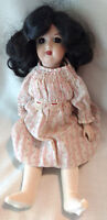 "Heinrich Handwerck 14"" German Bisque Porcelain CR Doll Girl Clothing Dress VTG"