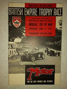 13th INTERNATIONAL BRITISH EMPIRE TROPHY RACE - 1951 - OFFICIAL PROGRAMME