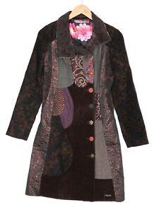 DESIGUAL 37E2050 Asha Chocolate Coat Women Size EU 36 UK ~8-10
