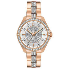 Bulova Women's Crystal Accents Quartz Rose Gold 35mm Watch 98L229