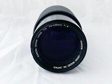 Canon FD 70-210mm F4 M/F Zoom Lens, Clear Optics