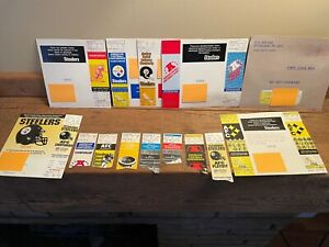 Lot 14 Pittsburgh Steelers AFC Playoff Ticket Stubs Many 1970s Super Bowl Years