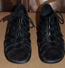 cfa077d477c1 I Love Comfort Garrett Womens 9 Adjustable Open Toe Lace Up Shoes Sandals  Black