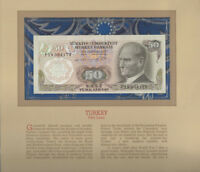 Most Treasured Banknotes Turkey 50 Lirasi 1970 UNC P 188a.1 UNC Low # 004173