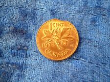Canada 1 Cent 1978 Clipped Planchet Error EF Lustre
