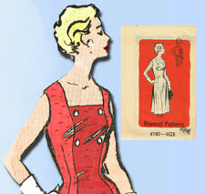 1960s Vintage Anne Adams Sewing Pattern 4780 Uncut Plus Size Sun Dress 41 Bust