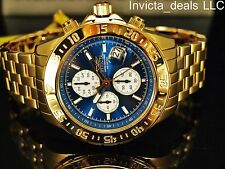 Invicta Men's 47mm Aviator Maverick Blue Dial Gold Plated Stainless Steel Watch