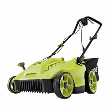 Sun Joe Electric Reel Lawn Mower w/Grass Catcher | 16 in | Quad Wheel | 24 Blade