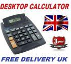 Jumbo Home Office Desktop Calculator 8 Digit Large Button School Battery UK