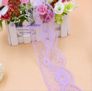 30-200 Yards Embroidered Net Lace Trim Ribbon Crafts Sewing DIY Wholesale 6L31