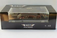 LINCOLN CONTINENTAL TOWN CAR LIMOUSINE BLACK 1985 NEO 45335 1/43 NOIR RESINE