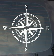 """Rose Compass Sticker Decal Vinyl Off Road 4x4 Sailing Boating Adventure Mud 7.5"""""""