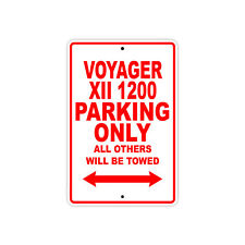 KAWASAKI VOYAGER XII 1200 Parking Only Motorcycle Bike Chopper Aluminum Sign